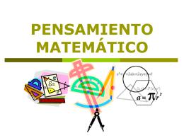 pensamiento matemático 2