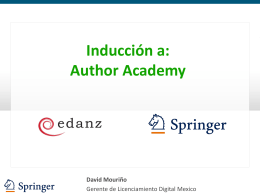 Inducción a Springer Author Academy