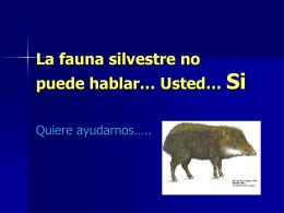Los animales silvestres no pueden hablar