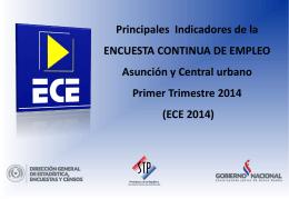 Presentación ECE Primer Trimestre 2014