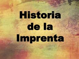 Historia de la Imprenta - Boletin Oficial de la Provincia