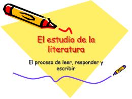 El proceso de leer, responder y escribir