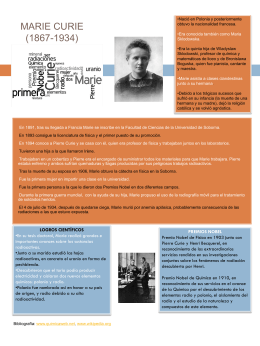 MARIE CURIE (1867-1934) - Departamento de Química Física