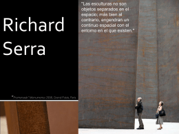 Richard Serra - WordPress.com