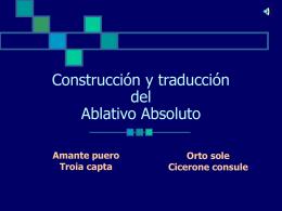 Ablativo Absoluto - IES Fuente de la Peña