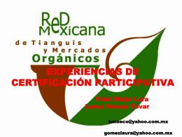 5.Experiencias de certificación participativa, Red