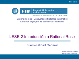 Introducción a Rational Rose - Departament d`Enginyeria de Serveis