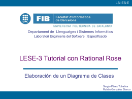 Tutorial con Rational Rose - Departament d`Enginyeria de Serveis i