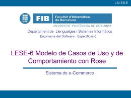 LESE-6 Modelo de Casos de Uso y de Comportamiento con Rose