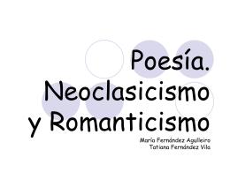 Poesia Neoclasicismo y Romanticismo