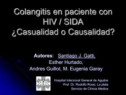 Colangitis en paciente con HIV SIDA