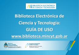 TÍTULO - Biblioteca Electrónica de Ciencia y Tecnología
