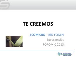 Gonzalez - Foromic 2013