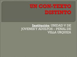 UN CON-TEXTO DISTINTO Tucumán