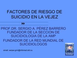 FACTORES DE RIESGO DE SUICIDIO EN LA VEJEZ