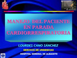 Manejo del paciente en parada cardiorespiratoria.
