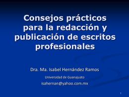 Consejos prácticos para la redacción y publicación de