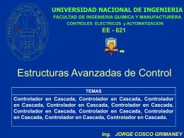 CONTROL AVANZADO - Ing. Jorge Cosco Grimaney