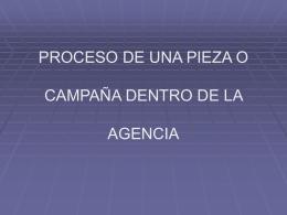 PROCESO DE UNA PIEZA O CAMPAÑA DENTRO DE LA AGENCIA