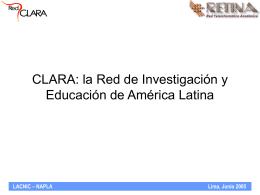 Explicación del diseño del Backbone regional de CLARA