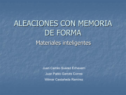 ALEACIONES CON MEMORIA DE FORMA
