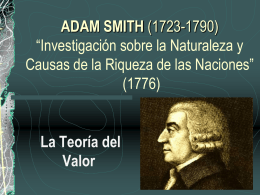 Teoría del Valor de Adam Smith