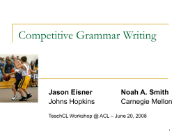 Competitive Grammar Writing