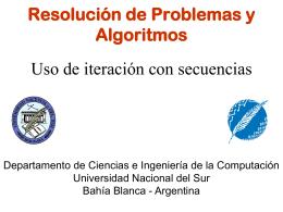 Iteracion y Secuencia x Consola