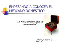 EMPEZANDO A CONOCER EL LMERCADO DOMESTICO