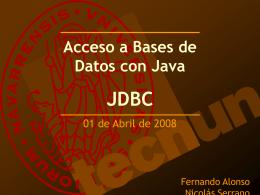 JDBC - Tecnun