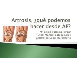 Sesión Artrosis