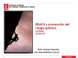 REACH y prevención de riesgo químico