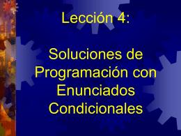 Soluciones de Programación: Enunciados Condicionales