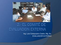 2.- EL COMITÉ DE EVALUACION EXTERNA