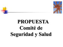 propuesta comite de seguridad y salud en el trabajo