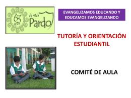 Comité de Aula - Colegio Manuel Pardo