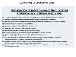 3. Conceptos formato 1001
