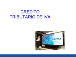 CRÉDITO TRIBUTARIO POR RETENCIONES DEL IVA