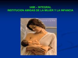 INICIATIVA INSTITUCIONES AMIGAS DE LA MUJER Y LA