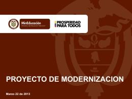 Control de Documentos - Proyecto de Modernización de Secretarías