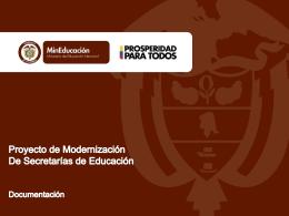 Documentación - Proyecto de Modernización de Secretarías de