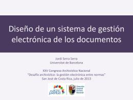 Diseño de un sistema de gestión electrónica de los documentos