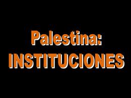 Palestina-INSTITUCIONES