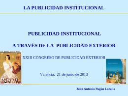 Juan Antonio Pagán Lozano LA PUBLICIDAD