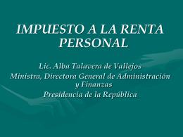 ¿Qué es el Impuesto a la Renta Personal?
