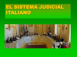 EL SISTEMA JUDICIAL ITALIANO - Cultura