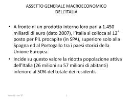 assetto generale macroeconomico dell`italia