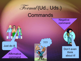 Formal (Ud., Uds.) Commands