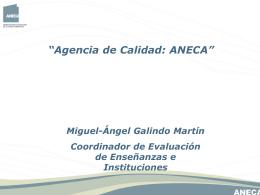 agencia nacional de evaluación de la calidad y