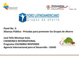 Alianzas Público - Privadas para promover los Grupos de Ahorro
